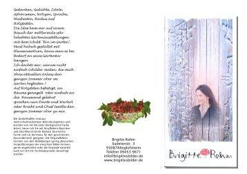 Brigitte Rahm Sudetenstr. 3 93087Alteglofsheim Telefon 09453 ...