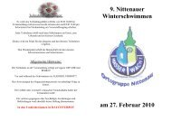 9. Nittenauer Winterschwimmen am 27. Februar 2010