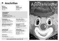 Apostelkirche - aktuell