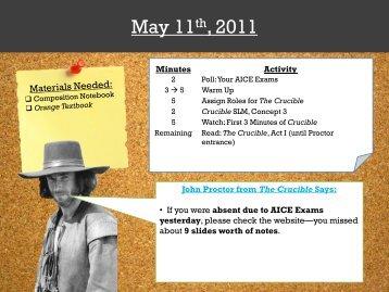 The Crucible - Mr. Hampton's Wiki