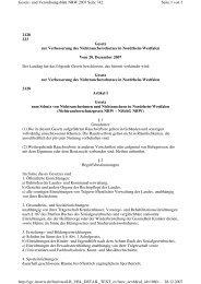 2128 223 Gesetz zur  Verbesserung des ... - AGOT NRW