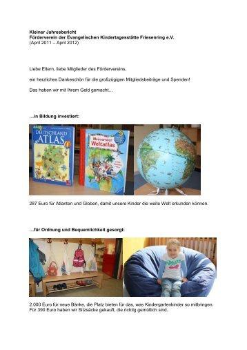 Kleiner Jahresbericht 2012