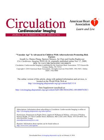 Is Advanced in Children With Atherosclerosis-Promoting Risk Factors