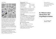 II. Münsterscher Meisterkurs für Orgelimprovisation