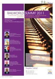 RAILWORLD SUMMIT 2011 - Clean Air Initiative