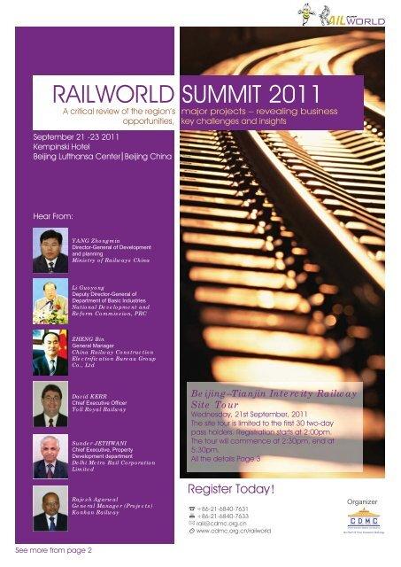 RAILWORLD SUMMIT 2011 - Clean Air Initiative