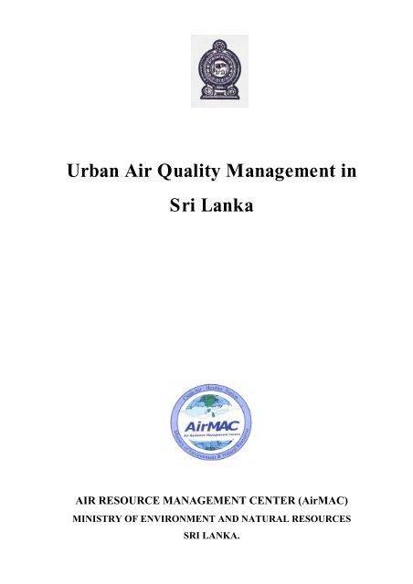 Urban Air Quality Management in Sri Lanka - Clean Air Initiative