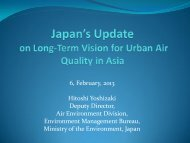 Japan Country Presentation - Clean Air Initiative