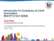 Introduction To Guidelines of CAAP Formulation ... - Clean Air Initiative