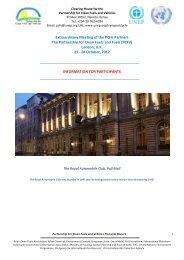 proposal regarding third partnership meeting and - Clean Air Initiative