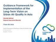 Guidance Framework for implementation of the ... - Clean Air Initiative