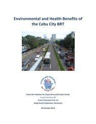 Environmental and Health Benefits of the Cebu ... - Clean Air Initiative
