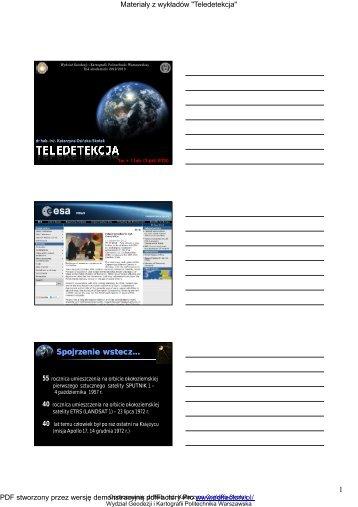 Wyklad_1_2mi.pdf - Zakład Fotogrametrii, Teledetekcji i SIP ...