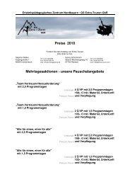 Preise 2010 Mehrtagesaktionen - unsere ... - Burg Hohenberg
