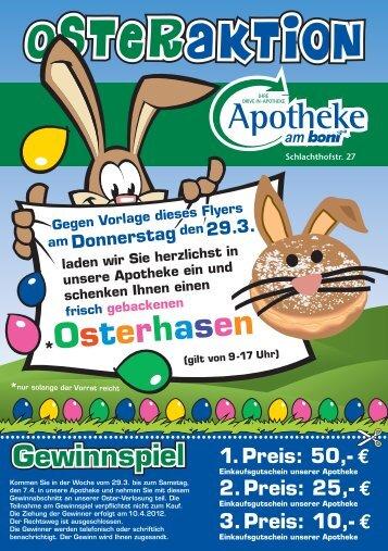 Osterhasen - Apotheke am Boni-Center Witten