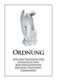 Friedhofssatzung - Essen-Dellwig-Frintrop-Gerschede