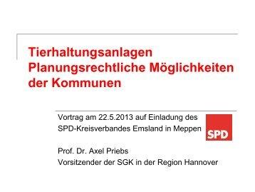 Tierhaltungsanlagen Planungsrechtliche ... - SPD-Baccum