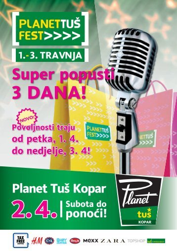 Super popusti do ponoći! - Planet TUŠ Koper