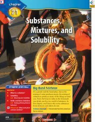 Chapter 21: Substances, Mixtures, and Solubility