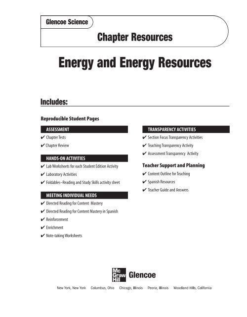 Chapter 24 Resource: Energy and Energy Resources