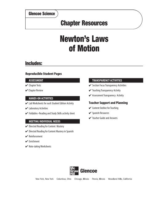 Chapter 23 Resource: Newton's Laws of Motion