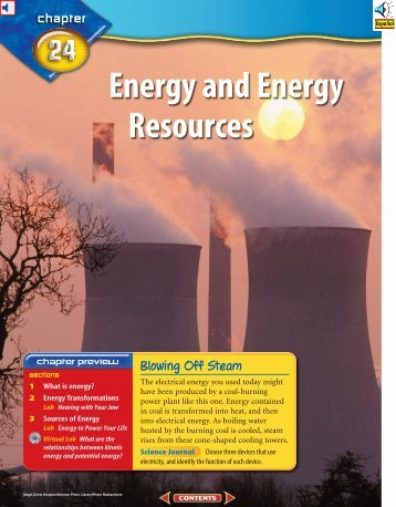Chapter 24: Energy and Energy Resources