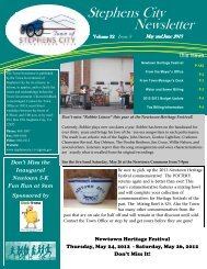 May and June Newsletter 2013 - Town of Stephens City