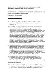COC statement on aspartame
