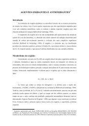 AGENTES OXIDANTES E ANTIOXIDANTES