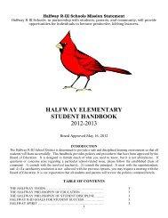 halfway elementary student handbook 2012-2013 - HalfwaySchools ...