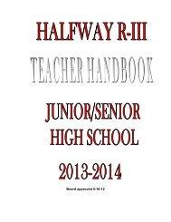 Board approved 5-16-12 - HalfwaySchools.org
