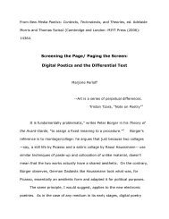 Screening the Page/ Paging the Screen - Electronic Poetry Center