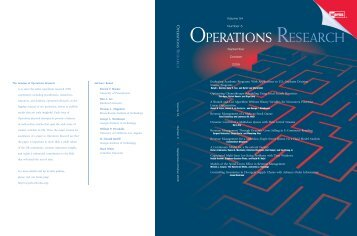 Front Matter (PDF) - Operations Research