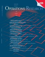 Front Matter (PDF) - Operations Research - Institute for Operations ...