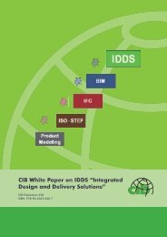 CIB White Paper on IDDS ?Integrated Design and Delivery Solutions?