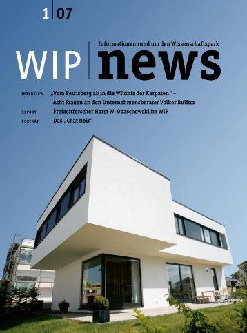 Ausgabe 1 - wip – wissenschaftspark trier