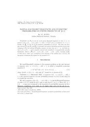 partial hausdorff sequences and symmetric probabilities on finite ...