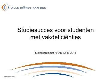 Dia's van powerpoint-presentatie (terug)kijken - ILO