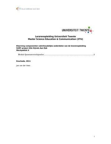 Format beschrijving opleidingstraject educatieve minor met e ...
