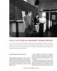 Inquiry learning bij een lessenserie 'betoog schrijven' - ILO