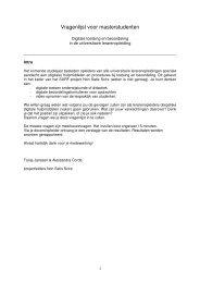 Vragenlijst voor masterstudenten