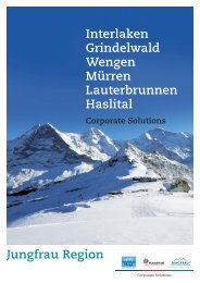 Corporate Solutions Broschuere - Grindelwald