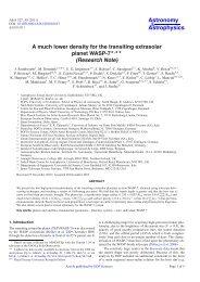 PDF (250.5 KB) - Astronomy & Astrophysics