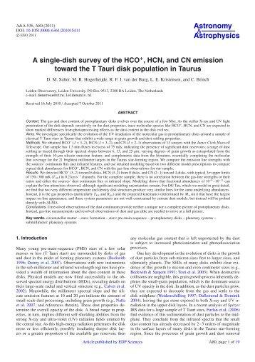PDF (1.728 MB) - Astronomy & Astrophysics