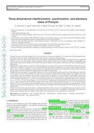 Three-dimensional interferometric, spectrometric, and planetary ...