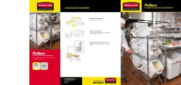 Stockage deS alimentS - Rubbermaid Commercial Products