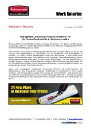 ISSA Interclean - Rubbermaid Commercial Products