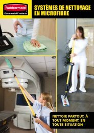 MICROFIBRE Cleaning Systems Brochure fr - Rubbermaid ...