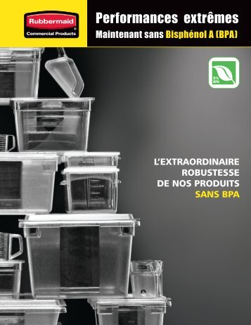 Performances extrêmes - Rubbermaid Commercial Products