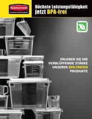 jetzt BPA-frei - Rubbermaid Commercial Products